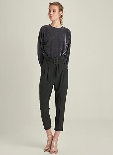 Ng Style Yüksek Bel Kemerli Pantolon Siyah